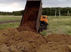 Выгрузка грунта для утилизации