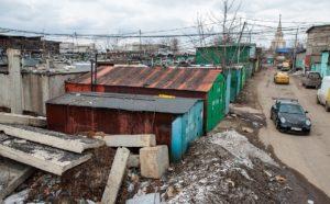 Железные гаражи, подлежащие демонтажу